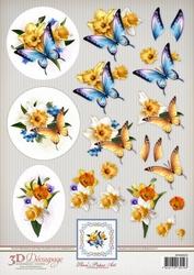 3D Knipvel Ann's Paper Art APA3D023 Daffodils