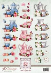 3D Knipvel Ann's Paper Art APA3D020 Tea Time