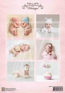 A4 Vel Nellie's Vintage Nevi075 Sweet baby girl