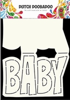 Dutch DooBaDoo Card Art 470.713.647 Text 'Baby' A5