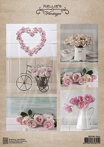 A4 Vel Nellie's Vintage Nevi080 Huwelijk/trouw/Wedding/roses