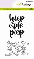 CraftEmotions A6 clearstamps 1824 Hieperdepiep Handlettering