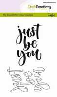 CraftEmotions A6 clearstamps 1802 Just be you Handlettering