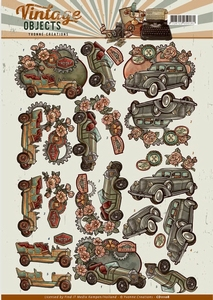 3D Knipvel Yvonne CD11108 Vintage Objects Cars