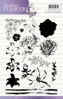 Precious Marieke Timeless Flowers Clear Stamp PMCS10027