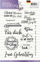 Precious Marieke Timeless Flowers Clear Stamp PMCS10030 Ger.