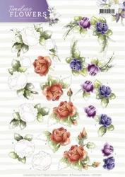 3D Knipvel Marieke Timeless Flowers CD11082 Roses
