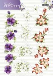 3D Knipvel Marieke Timeless Flowers CD11085 Lillies/lelies