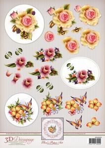 3D Knipvel Ann's Paper Art APA3D024 Spring Flowers
