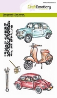CraftEmotions A6 clearstamps 1280 Classic Cars