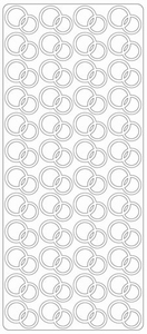 Stickervel Peel-off 1773 Ringen