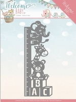 Yvonne's Die YCD10136 Welcome Baby Growth Chart