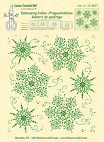 Leane Creatief Embossing folder 353837 Snow medaillon