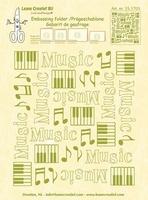 Leane Creatief Embossing folder 351703 Music