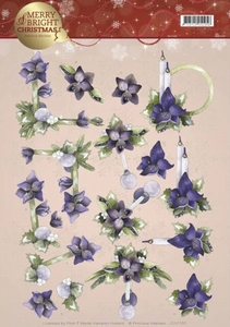 3D Knipvel Marieke Merry and Bright CD11120 Amaryllis Purple