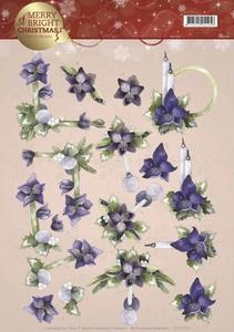 3D Knipvel Marieke Merry and Bright CD11120 Amaryllis Purple
