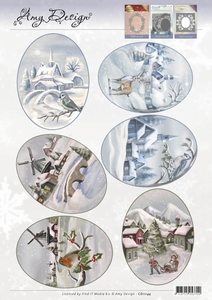 3D Topper Amy Design CD11144 Winter Landscapes