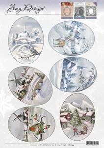 3D Topper Amy Design CD11144 Winter Landscapes