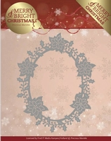 Marieke Merry & Bright Christmas Die PM10126 Poinsettia Oval