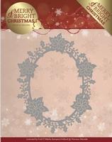 Marieke Merry & Bright Christmas Die PM10126 Poinsettia Oval