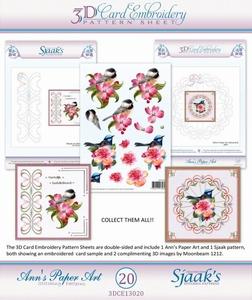 Ann's Paper Art 3D Borduurknipvel 3DCE2020 Bloemen & vogels