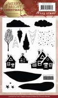 Clearstamp Marieke Merry & Bright Christmas PMCS10031 House