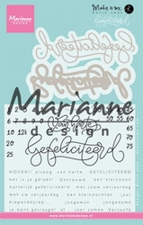 MD Clear Stamp Karin Joan KJ1721 Gefelicteerd