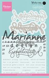 MD Clear Stamp Karin Joan KJ1721 Gefelicteerd