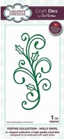 Creative Expressions Festive CED3106 Holly Swirl