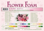 A4 vel LeCrea Flower Foam 25.4247 Bordeaux
