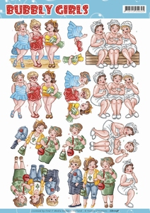 Yvonne Bubbly Girls 3D Knipvel CD11158 Having Fun