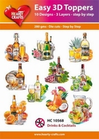 Hearty Crafts Easy 3D Toppers HC10568 Drinks & cocktails
