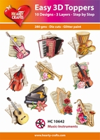 Hearty Crafts Easy 3D Toppers HC10642 Music Instruments