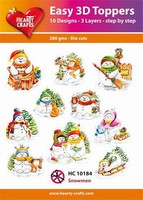 Hearty Crafts Easy 3D Toppers HC10184 Snowmen