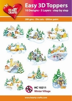 Hearty Crafts Easy 3D Toppers HC10211 Winter village