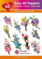 Hearty Crafts Easy 3D Toppers HC10525 Spring flowers