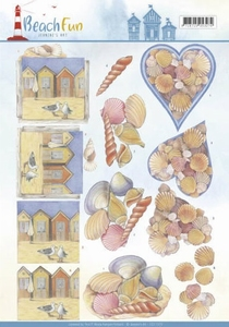 A4 Knipvel Jeanine CD11070 Beach Fun Seashells