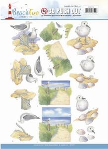 A4 Pushout Jeanine SB10271 Beach Fun Seagulls