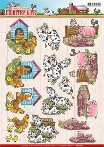 3D Knipvel Yvonne Creations CD11060 Country Life Farm Animal