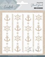 Card Deco Essentials Mixed Media Stencil CDEST001 Beach