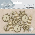 Card Deco Essentials Wooden Shapes CDEWS001 Beach