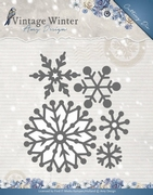 Amy Design Die ADD10126 Vintage Winter Beautiful Snowflakes