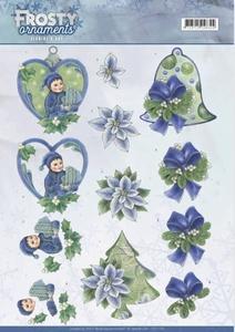 A4 Knipvel Jeanine CD11129 Frosty Ornaments Green Ornaments