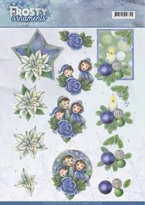 A4 Knipvel Jeanine CD11130 Frosty Ornaments Blue Ornaments