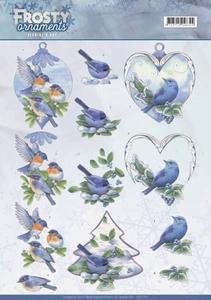 A4 Knipvel Jeanine CD11131 Frosty Ornaments Blue Birds