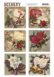 Die Cut Topper Amy Scenery CDS10004 Christmas roses