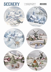 Die Cut Topper Amy Scenery CDS10003 Snow Villages