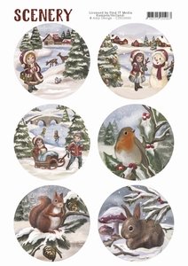 Die Cut Topper Amy Scenery CDS10001 Kids and Animals
