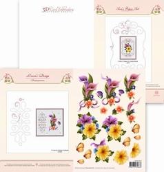 Ann's Paper Art 3D Borduurknipvel 3DCE2021 Callas/Petunia's