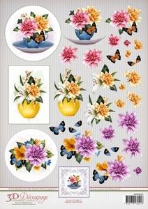 3D Knipvel Ann's Paper Art APA3D025 Dahlia